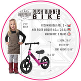 Madd Gear Rush Runner Kids Balance Bike Pink Detail