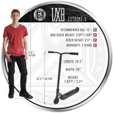 Madd Gear VX8 Extreme-X Titanium Scooter Child Height