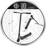 Madd Gear VX8 Extreme-X Titanium Scooter Dimensions