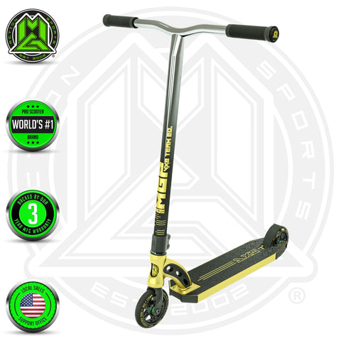 Madd Gear VX8 Team Stunt Scooter Gold Complete