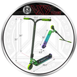 Madd Gear VX9 Extreme Pro Scooter - Aurum - Product Dimensions