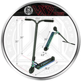 MGP VX9 Extreme Pro Scooter - Neochrome - Product Dimensions