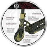 MGP VX9 Nitro Pro Scooter - Gold Splatter - Key Features