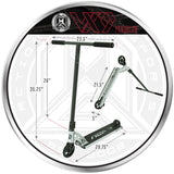 MGP VX9 Pendulum Pro Scooter - Chrome / Black - Product Dimensions