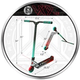 MGP VX9 Team Pro Scooter - Butanol - Product Dimensions