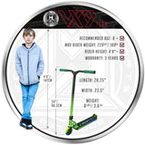 MGP VX9 Team Pro Scooter - Ethanol - Recommended Rider Size