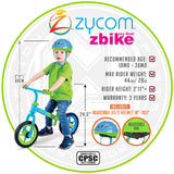 Zycom Childrens Balance Bike Foot to Floor
