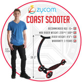 Zycom Coast Adult 3 Wheel Cruising Scooter Rider