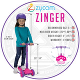 Zycom Zinger Scooter - Pink Purple Child Height