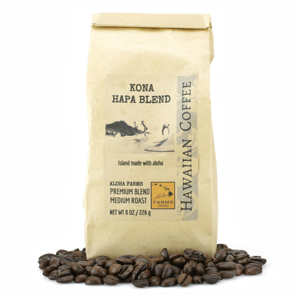 "40% Premium Kona / 60% Molokai ""Hapa Blend"" Coffee, Medium Roast"
