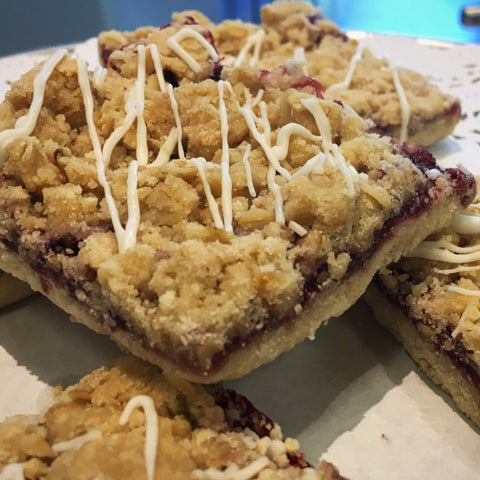 Gluten-free & Vegan Raspberry Bar