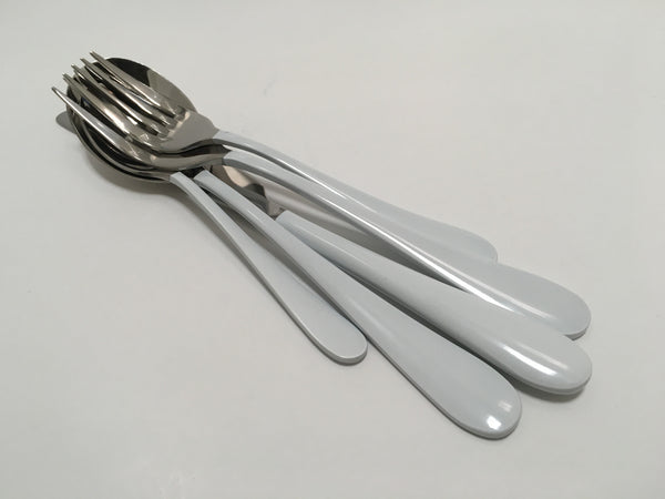 5 piece flatware set - Gloss White