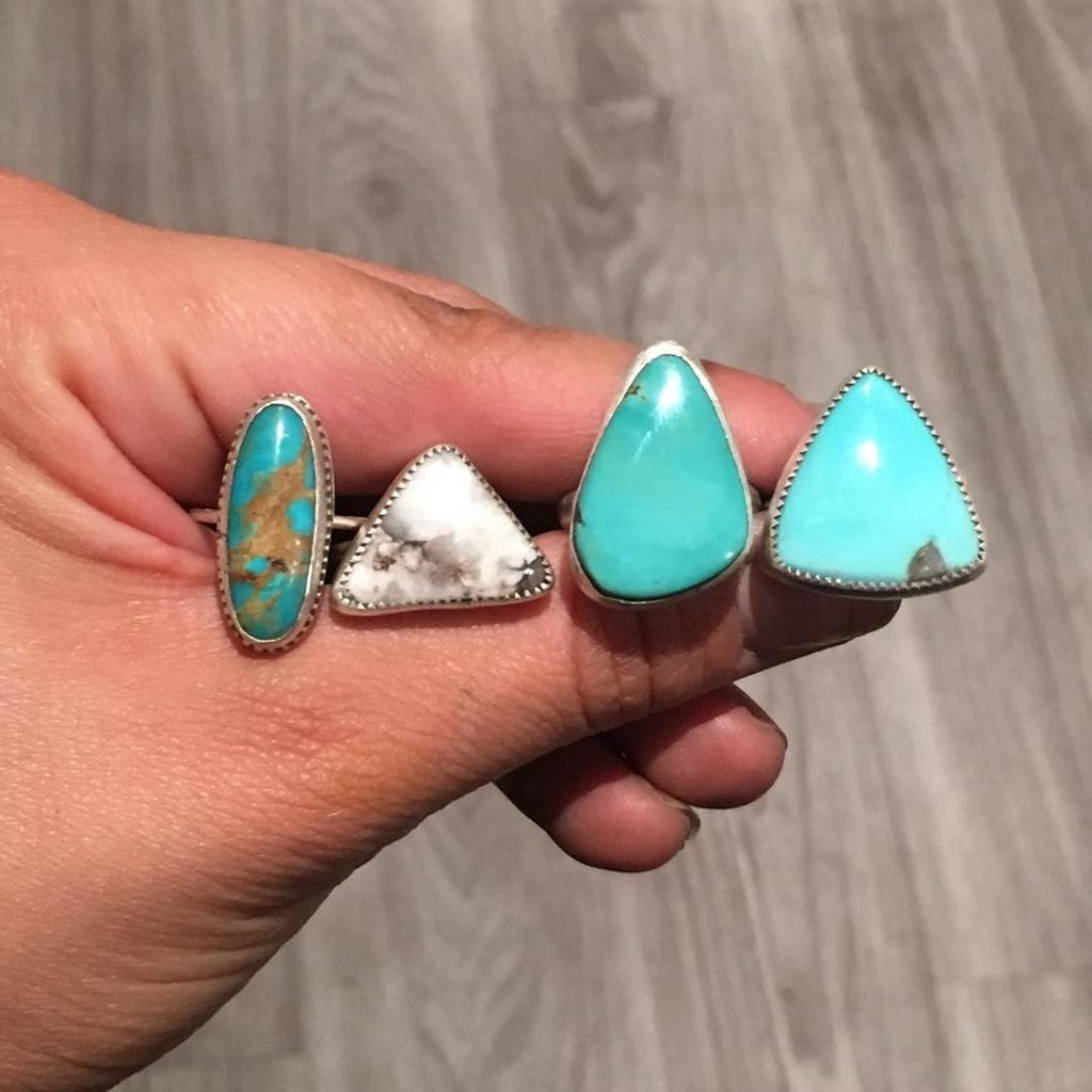 S&B x SG Kingman Turquoise Stacker Ring