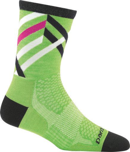 Women's bike sock used to show category specific tech features