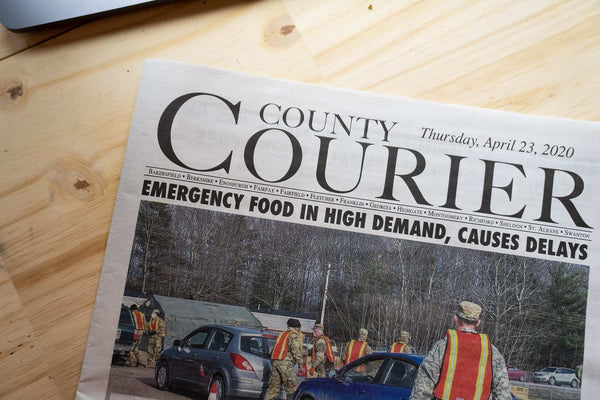 Littleton courier showing the food shortages caused by COVID19