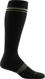 black over-the-calf sock