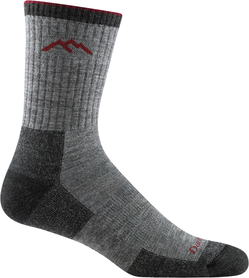 Hiker Micro Crew Cushion Charcoal Grey Hiking Sock for Men