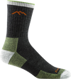 Hiker Micro Crew Cushion Lime Green and Black Hiking Sock for Men