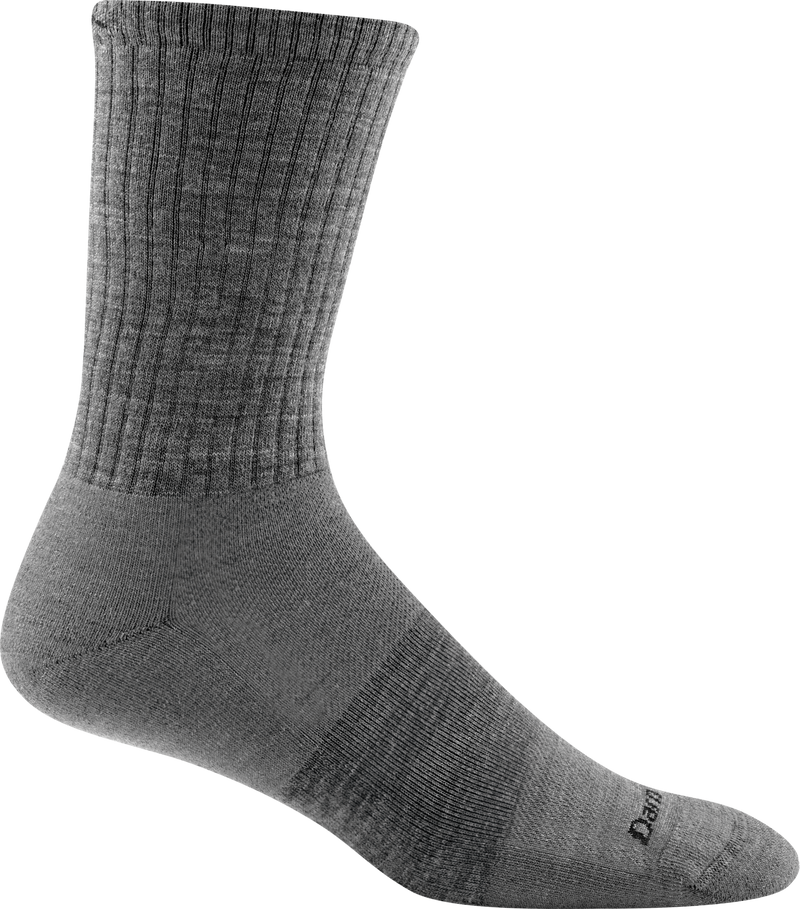 standard light gray crew sock