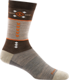 brown retro design office sock
