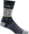 gray, blue retro design office sock