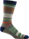 light cushion striped crew sock