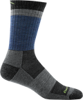 blue, grew, black striped sock