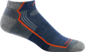 blue no show hiking sock