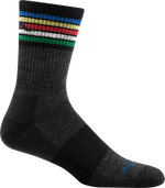 multi-color striped crew sock
