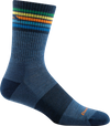 multi-color denim striped crew sock