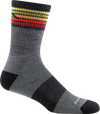 multi-color gray striped crew sock