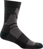 charcoal light crew hiking sock