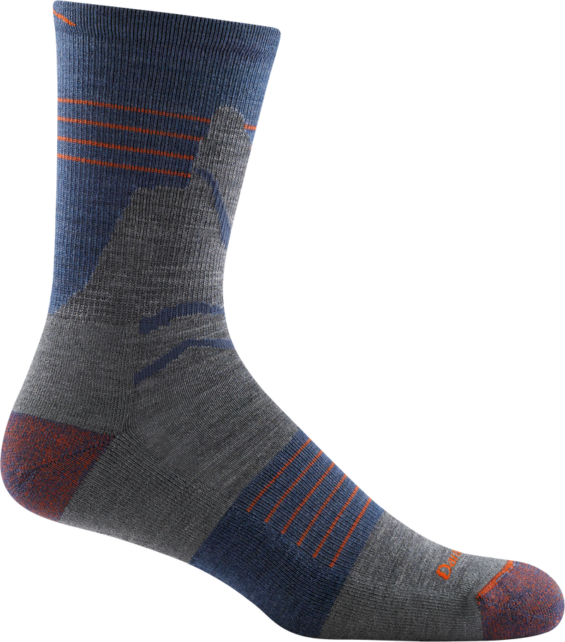 denim blue light crew hiking sock
