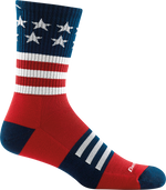 red, white, blue USA flag sock