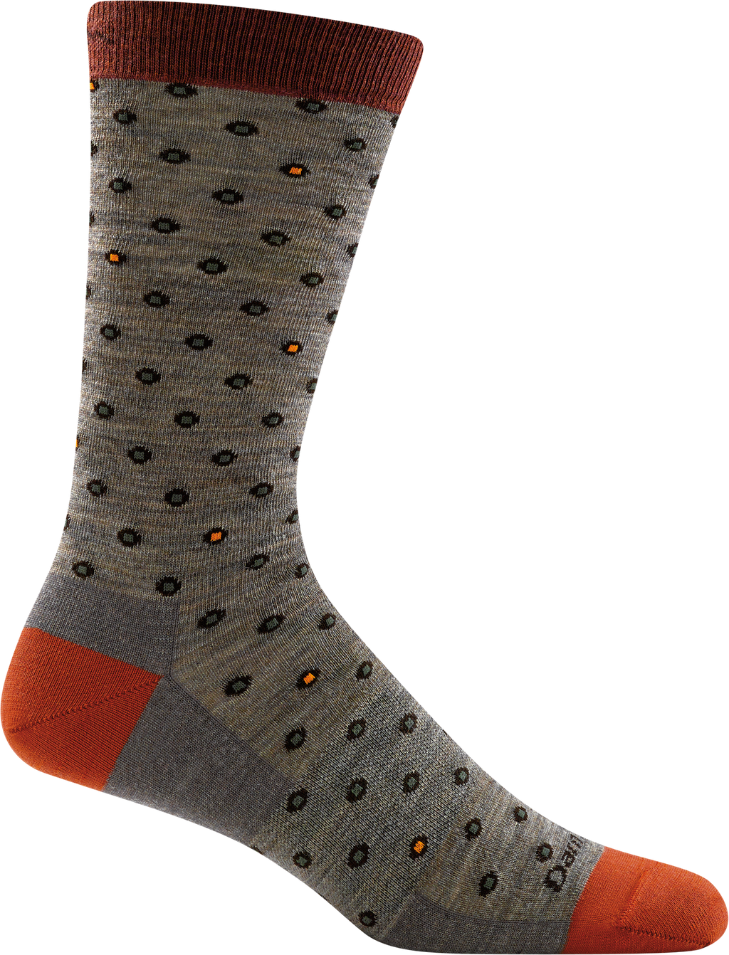 brown, orange funky dots office sock