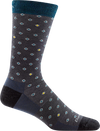 gray, blue funky dots office crew sock