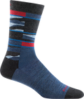 blue, red funky striped crew sock