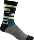 gray, yellow funky striped sock