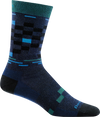 blue checkerboard design crew sock