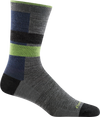 gray, blue striped office crew sock