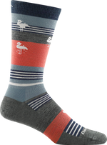 flamingo striped sock