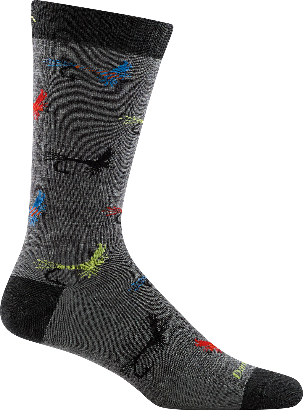 fishing flies design sock