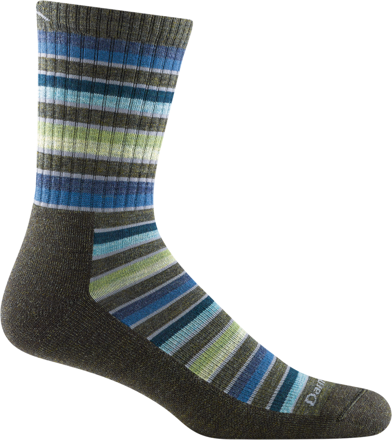 Men's Decade Stripe Micro Crew Midweight Hiking Sock