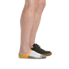 Profile of male legs facing right wearing Topless Mirage No Show Hidden Lightweight Lifestyle in Gray with back foot wearing a casual shoe