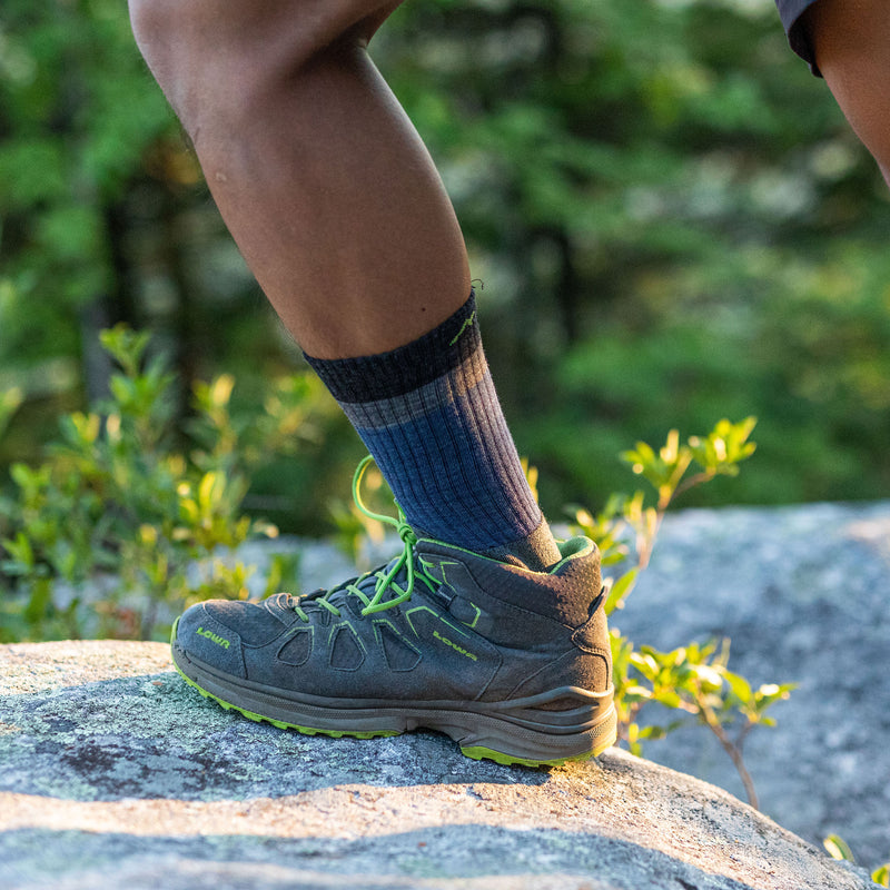 Men's Heady Stripe Micro Crew Lightweight Hiking Sock