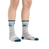 Image of a woman's legs on a white background wearing Women's Pacer Micro Crew Ultra-Lightweight Running Socks in Ash