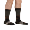 Man standing barefoot wearing Spur Boot Lightweight Hiking Socks in Fatigue