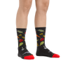 Image of a woman's legs on a white background wearing Women's Farmer's Market Crew Lightweight Lifestyle Socks in Charcoal