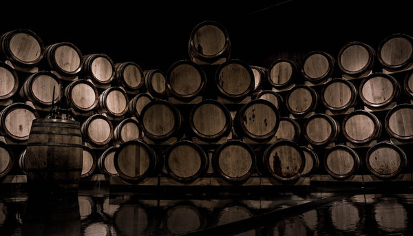 Oak Barrels Wine
