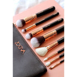 Powder Makeup Brushes with Leather Case